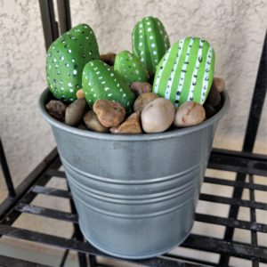 Painted Rock Project - Cute Cacti!