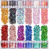 Chunky Glitter, 12 Colors