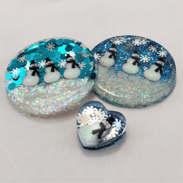 Snowmen Resin Charms