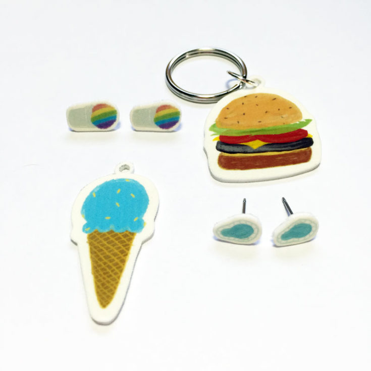 Shrinky Dink Printables: Summer Jewelry